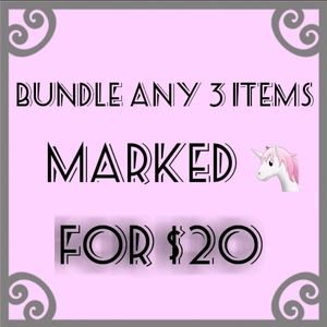 Bundle any items with 🦄 in the title for $20